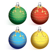 Christmas ball on white background cutout vector. — Stock Vector