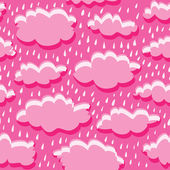 Seamless pattern of clouds and rain — Stock Vector
