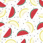 Fatias de melancia e melão, padrão sem emenda — Vetorial Stock