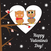 Greeting card for Valentines day. Vector illustration. — Stock Vector