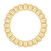 Round frame on a white background - gold chain, religious symbol Islam — Stock Vector