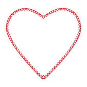 Frame heart the little hearts of red color on a white background — Stock Vector