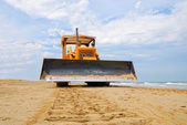 Bulldozer on the sand — Foto Stock