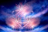 Fuochi d'artificio multipli — Foto Stock