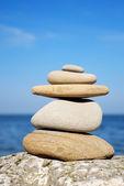 Pedras na praia — Foto Stock