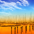 Wonderful sky ove rthe pier — Stock Photo #49662141