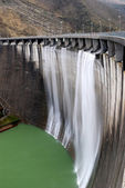 Wall of the dam — Stock Photo