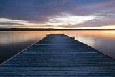 деревянный пирс — Стоковое фото