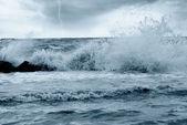 Bad weather on the sea — Stock Photo