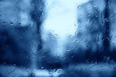 Raindrops on the window of the house — Foto de Stock