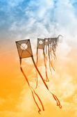Pipas no céu — Foto Stock