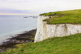 Port of Dover, seascape, view from the cliff St Margarets — Foto Stock