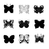 Collection of butterflies for design — Stock Vector