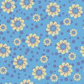 çiçek desenli mavi renkli — Stok Vektör