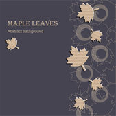 Maple leaves hintergrund — Stockvektor