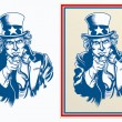 Vector illustration of Uncle Sam — Stock Vector #49215945