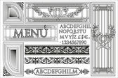 Elements age classics vector set — Stock Vector