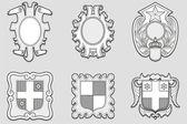 Heraldry vector set — Stock Vector