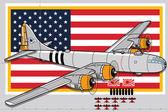 Ww2 bomber — Vettoriale Stock