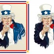 Vector illustration of Uncle Sam — Stock Vector #49264211