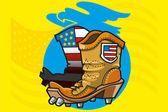 足球靴μπότες ποδοσφαίρου — 图库矢量图片