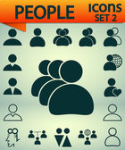 People icons, Set 2,  vector illustration. Flat design style — Stock Vector