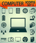 Computer icons Set 3,  vector illustration. Flat design style — Vector de stock