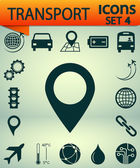 Transportation icons, Set 4,  vector illustration. Flat design style — Vector de stock