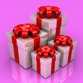 Gift boxes, with a colorful ribbon like a present — Stock fotografie