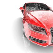 Auto op witte achtergrond — Stockfoto