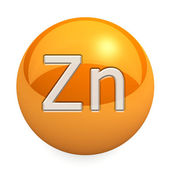 3D chemical element Zn — 图库照片