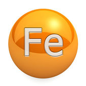 3D chemical element Fe — Stock Photo