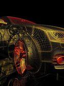 3d model auta na černém pozadí. — Stock fotografie