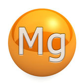 3D chemical element Mg — 图库照片