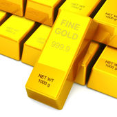 3D Set of gold bars — Stock Photo