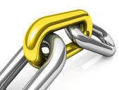 Abstract 3D illustration of a single chain link — Stock Photo