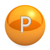 3D chemical element P — 图库照片