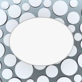 White ellipse banner on abstract circle background — Stock Photo