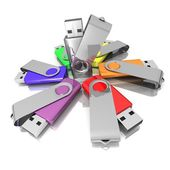 3D colorful models USB Flash Drive — Stock Photo