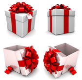 Gift boxes, with ribbon — 图库照片