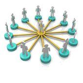3d Business Network — Stockfoto