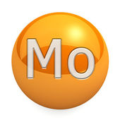 3D chemical element Mo — 图库照片