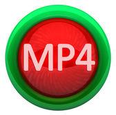 MP4 icon. Format VIDEO — Foto de Stock