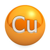 3D chemical element Cu — 图库照片