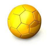 3 d ゴールデン ボール (サッカー ボール) — ストック写真