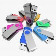 3D colorful models USB Flash Drive — Stock Photo #51218939