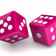 Bright dice on white background — Stock Photo #51218997