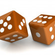 Bright dice on white background — Stock Photo #51219101