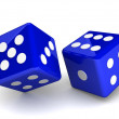 Bright dice on white background — Stock Photo #51219129