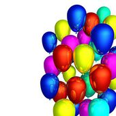 Color flying balloons — Stock Photo
